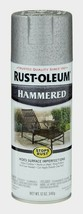 Rust-Oleum HAMMERED Spray 12oz SILVER Stops Rust Hide Imperfections 7213-830 NEW - $7.99