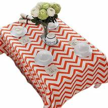 Modern Orange Zigzag Table Linen, 57 By 86 Inches
