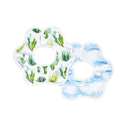Tiny Twinkle Roundabout Bibs 2 Pack - Cactus Cloud Set, 360 Rotating Waterproof