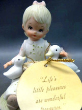 "Lefton China Figurine ""Little Girl with Ducks"" Excellent condition Vint... - $29.00"