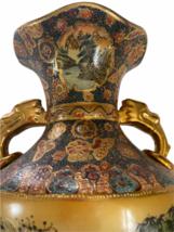 "Vintage 18"" Japanese Two Gold Gilt Handle Satsuma Vase Jug Japan Marked image 5"