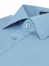 Omega Italy Men's Long Sleeve Solid Regular Fit Light Blue Dress Shirt - 4XL image 2