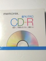 Memorex 5PK 5 Pack CD-R 52x 700MB 80Min - $9.89