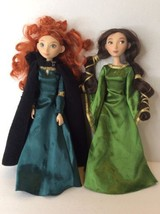 Disney Store Brave Merida Queen Elinor Mom Dolls Lot Clothes Articulated... - $50.48