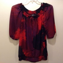 Mossimo Multicolor Sheer Blouse/Shirt Sz S