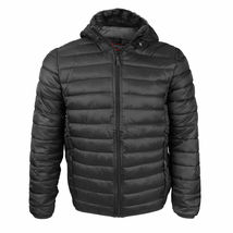 Maximos Men's Slim Fit Lightweight Zip Insulated Packable Puffer Hooded Jacket image 9