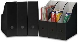 Simple Houseware Black Magazine File Holder Organizer Box Pack of 6 Desk... - $16.94