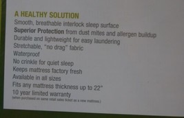 Slumberland Full Mattress Protection White Smooth Breathable image 2