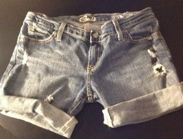 Blue Cult Cuffed Distressed Women's Shorts Size 28 B#13 - $8.14