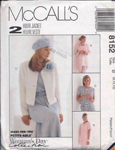 Primary image for McCall's Pattern 8152 Misses' Unlined Jacket in Two Lengths