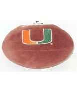 Miami Hurricanes plush Football toy NCAA - $14.03