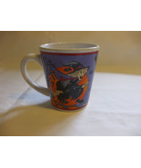 12 Oz Purple Halloween Witch Mug Glass Cup - $9.90