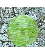 "Hanging Glass Ball 6"" Diameter ""Peridot Swirl"" Tree Witch Ball (1) #114 - $24.75"