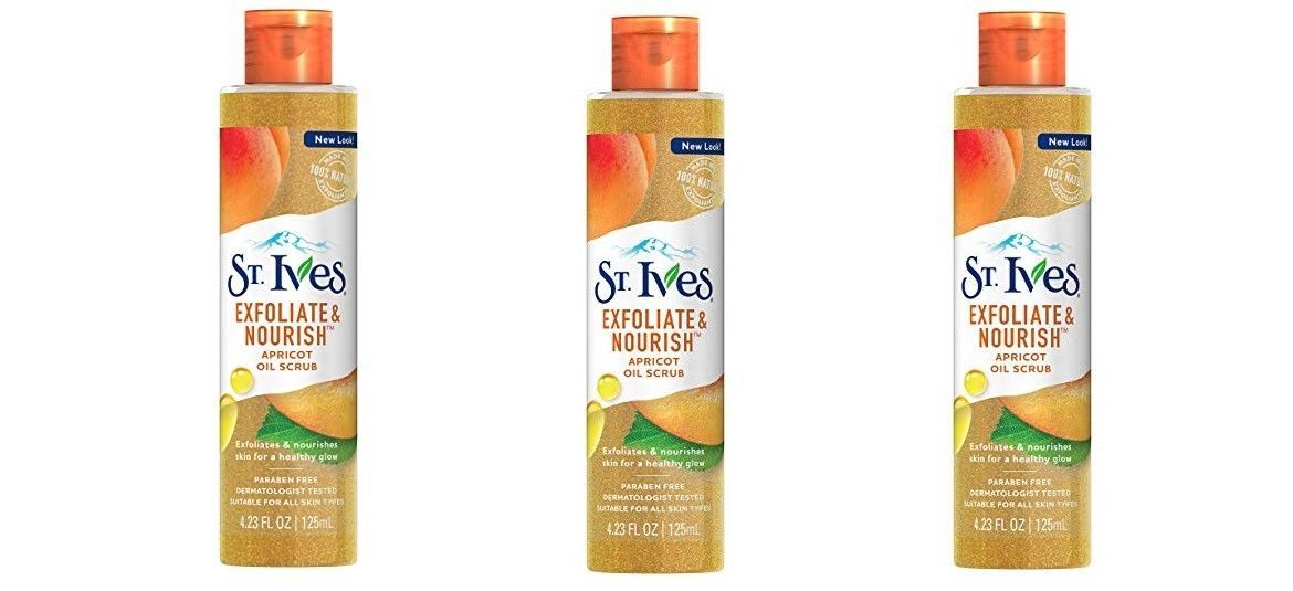 Primary image for St. Ives Exfoliate Nourish Facial Oil Exfoliating Scrub Apricot 4.23 oz (3 Pack)