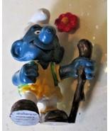 Vintage SMURFS Smurf hiker hiking mini PVC Figure toy - $9.99