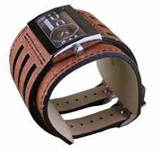 EOS Caseology Brown Leather Metro Wrist Watch image 2