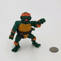 1989 Vintage vtg Wacky Michelangelo w/ Belt TMNT Action Figure Playmates... - $5.28