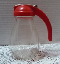 Vintage Hazel Atlas Federal Tool Co. Red Handled Syrup Dispenser Farmhou... - $12.00