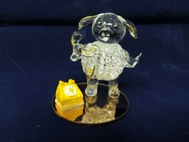 Dura-best Creations are Handmade - Glass Pig w/ Gold-Tone Trim & Phone - $16.99