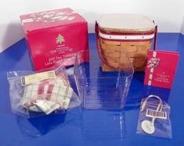 Longaberger Christmas 2013 Tree Trimming Little Plaid Tidings Basket Set - $108.85