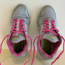 Women's Pink Silver Adidas Shoes Sneaker Running Sport Size 6 Ship Fast USA - $29.95