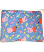 PEPPA PIG Candy Lollipop Blanket Super Soft 40x50 Baby Toddler Child Blue - $59.39