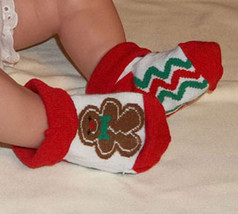 Newborn Babys Gingerbread Man Bootie Socks - $3.00