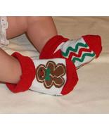 Newborn Babys Gingerbread Man Bootie Socks - $3.00