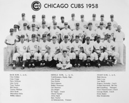 1958 CHICAGO CUBS 8X10 TEAM PHOTO BASEBALL PICTURE MLB WITH NAMES - $3.95