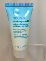 bliss Fabulous Makeup Melt Gel To Oil Cleanser Travel Sz .67 Oz - $6.64