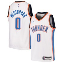 Nike NBA Youth Russell Westbrook White Oklahoma City Official Swingman J... - $39.99