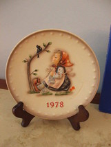 """Hummel, 1978, 7.5"""" 8th Annual Collector Plate, """"Happy Pastime"""" Hum 271, TMK-5, - $60.38"""
