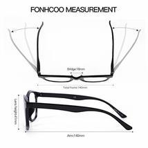 FONHCOO Blue Light Blocking Glasses Women Men Computer Reading Glasses Anti Eyes image 5