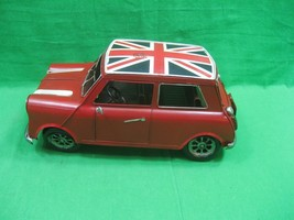 Vintage Hand Painted Union Jack British Mini Car Decorative Metal - $21.46
