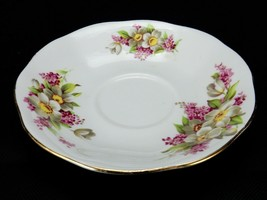 Queen Anne English Fine Bone China Saucer, Floral Pattern Saucer - $9.75