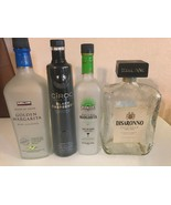 LOT OF EMPTY LIQUOR BOTTLES Vodka/Margarita/Liqueur - $15.45