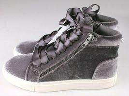 Brand New Women's Sara High Top Grey Velvet Sneakers Mossimo Supply Co image 5