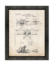 Emergency Flotation Gear for Aircraft Patent Print Old Look with Beveled... - $24.95+