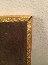 """Vintage 40s gold ornate 5"""" x 7"""" frame with red under front gold design image 4"""