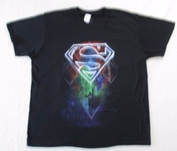 DC Comics Originals Men T Shirt 2XL Black Solid Graphic Short Sleeve Cotton 1793 - $13.55