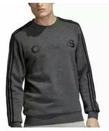 Adidas Men's 3 Stripe Sweatshirt Fleece Lined,Gray Black,M - $29.69