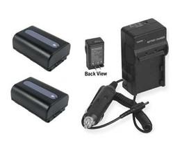 2 Batteries + Charger For Sony DSC-HX200 DSC-HX200V DSC-HX200V/B DSC-HX200VB - $40.49