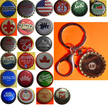 NY New York Giants Coke Sprite Diet pepsi & more Soda beer cap Keychain