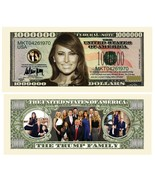 Trump First Lady Melania n Family Money Fake Million Dollar Bills Note 1... - €17,90 EUR