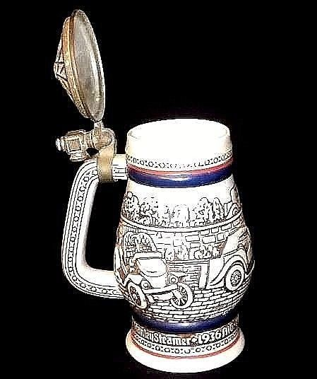 Stein with Lid Handcrafted in Brazil AB 635 Vintage
