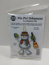 NMI Pin Pal Ornament Needlepoint Kit Christmas Snowman 5601 - $11.75