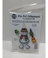 NMI Pin Pal Ornament Needlepoint Kit Christmas Snowman 5601 - $11.75