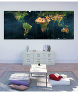 Wall Poster Art Giant Picture Print Earth Map 0089PB - $34.99