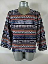 Liz Claiborne Womens Large 3/4 Sleeve Multi Color Cropped Jacket (B4) - $23.96