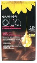 1 Garnier Olia 5.35 Medium Golden Mahogany 60% Oil Powered Permanent Hai... - $17.99